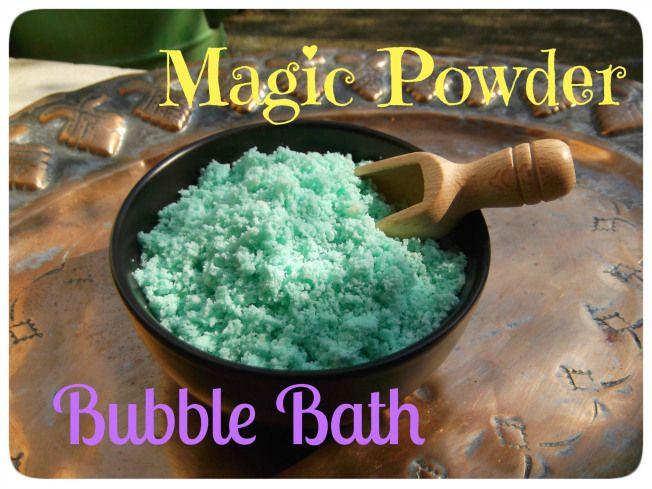 Magic Powder Bubble Bath!  DIY recipe