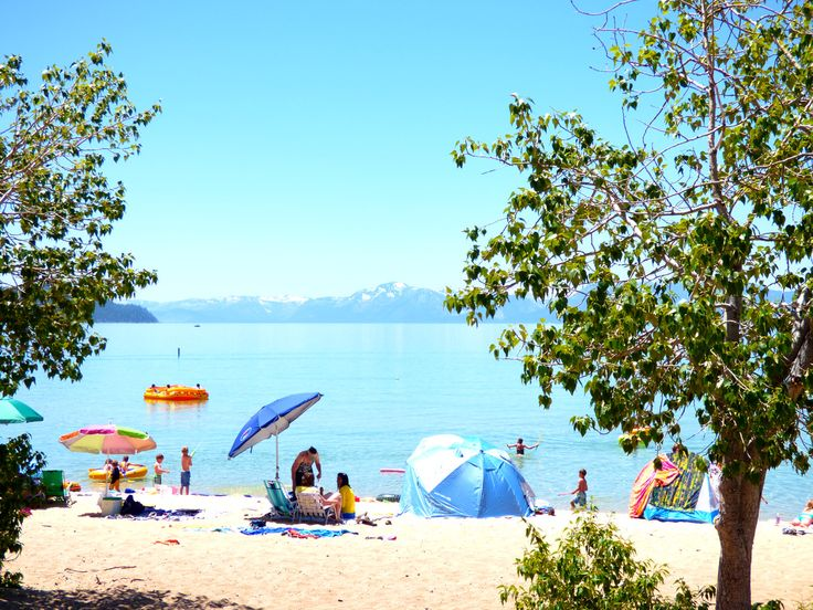 The Nevada side of Lake Tahoe has some truly spectacular beaches. One of the best, is Sand Harbor, Nevada State Park.