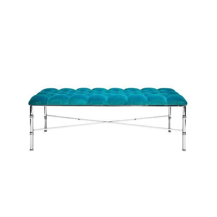 Worldsaway Stella Bamboo Upholstered Bench Wayfair In 2020 Upholstered Bench Upholster Bench