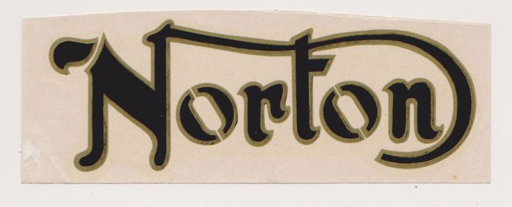 Vintage 1970's Norton Motorcycle Sticker From London #Unbranded