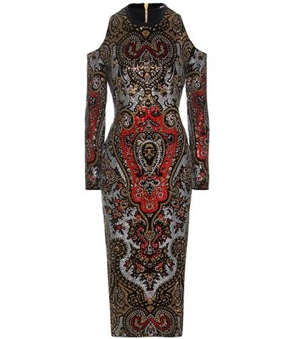 Photo of Crystal-embellished Cut-out Dress Balmain online