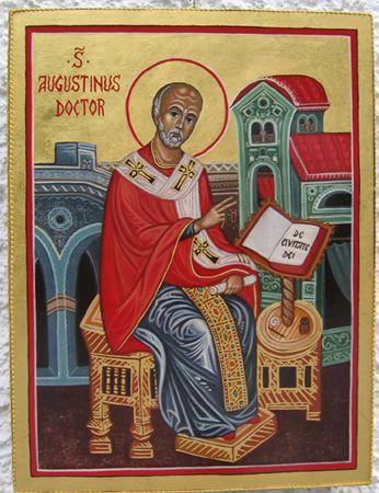 Icona di Sant'Agostino.(2005)  www.mirabileydio.it