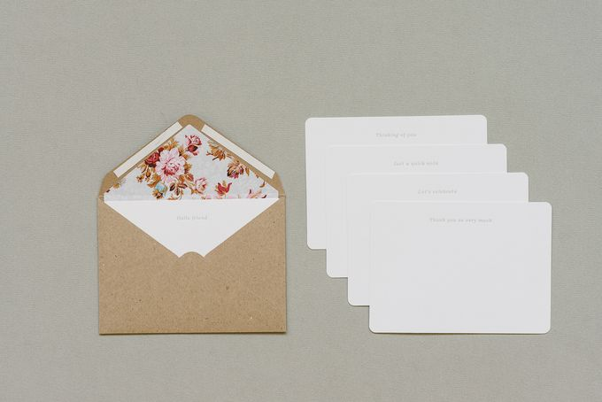Set of 5 letterpressed note cards {vintage} by Seven Swans Stationery on http://hellopretty.co.za