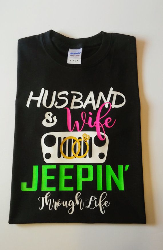 Husband & Wife Jeep Shirt by ThePeachyPost on Etsy