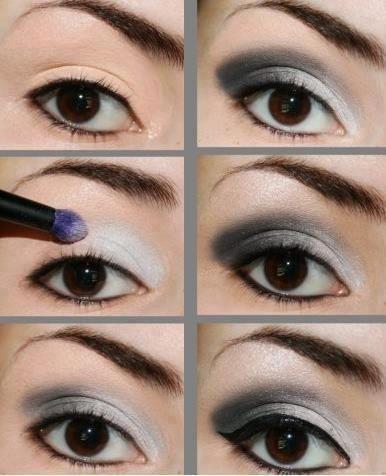 MAKEUP - maquiagem - olhos - eyes - make up - preto e prata - Fotos do mural