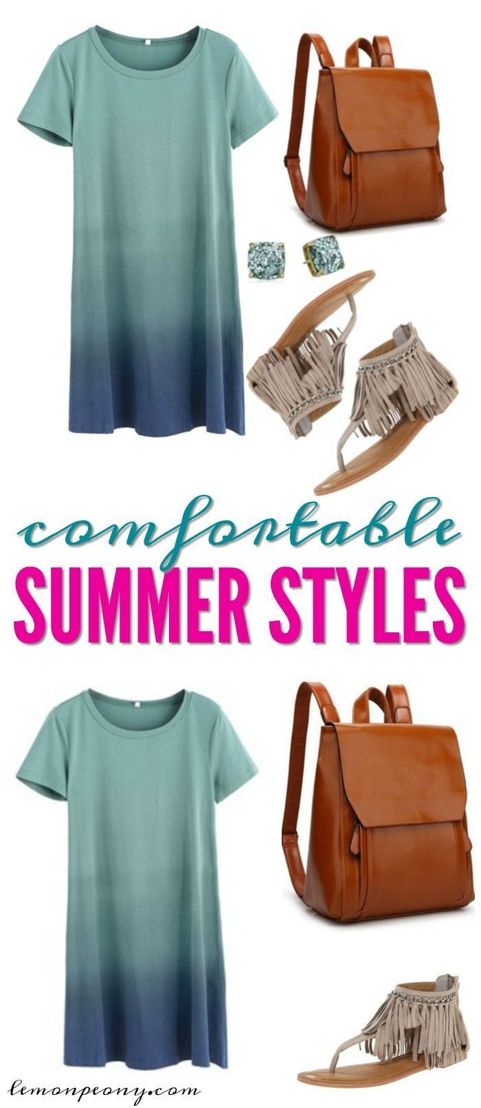 TShirt Dresses Comfortable Summer Style! Dress them up or go super casual. Grab a pair of sneakers and pull your hair up in a ponytail!