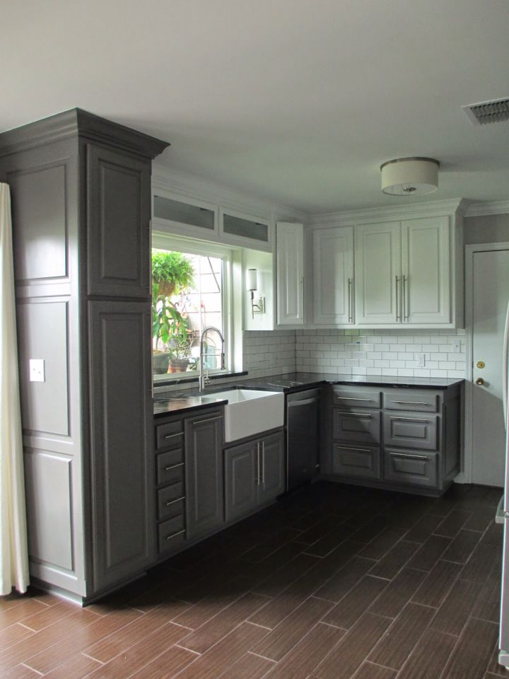 Tall cabinets all charcoal Bottom cabinets Kendall ...
