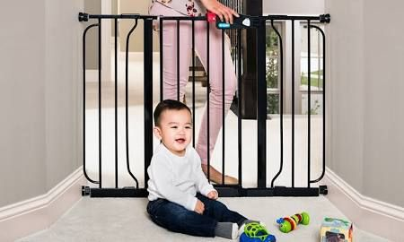 extra wide baby gate black - Google Search
