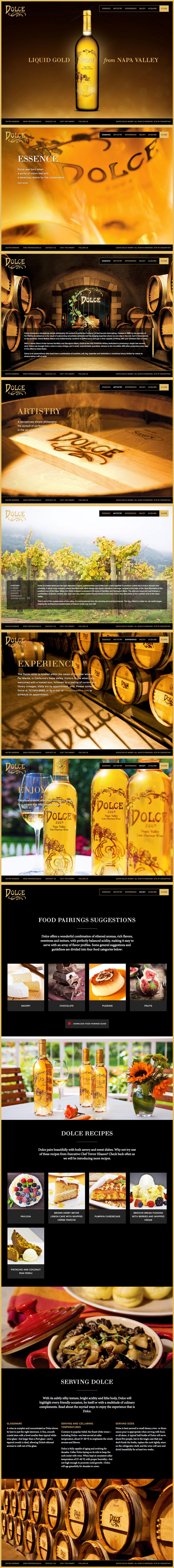 Dolce Winery   Website   by designthis!