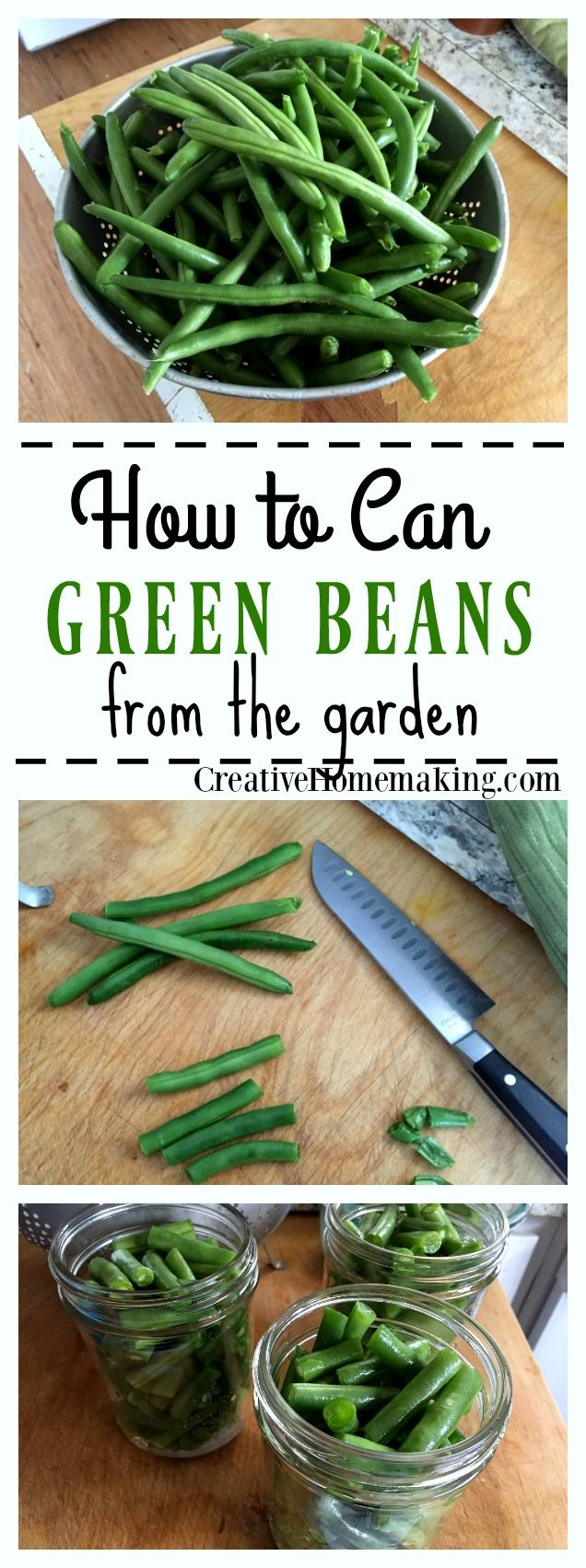 How to can green beans from the garden. Step by step pressure canning for beginners.