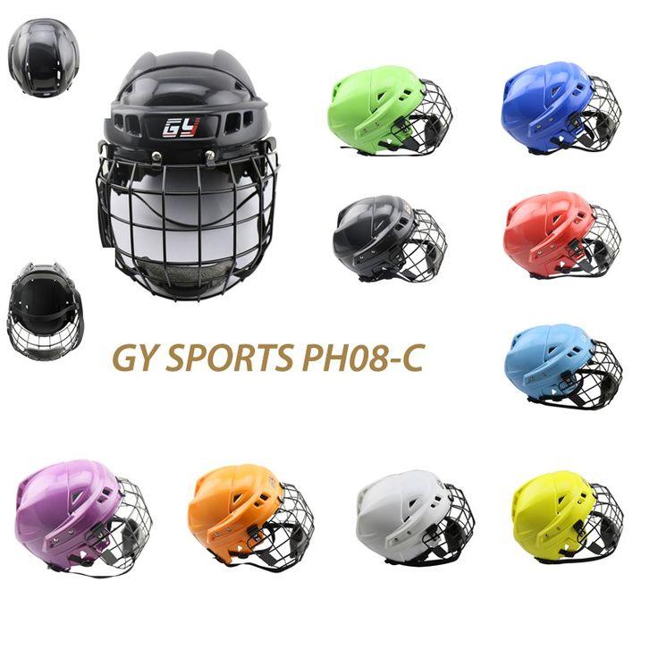 2016 GY casco de los deportes de equipo de hockey sobre hielo de invierno máscara con la cara de escudo protector de la cabeza de los niños