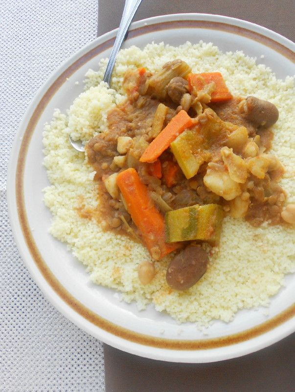 Culinary Couture: Algerian Couscous with Vegetables طعام بالمرقة