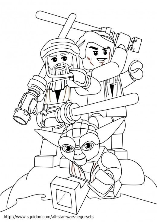 lego star wars yoda coloring pages original size 1131 x 1600 - Lego Princess Leia Coloring Pages