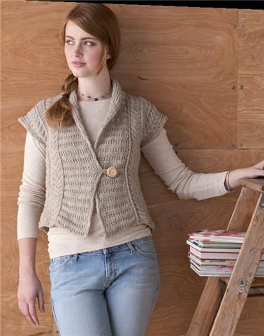 Knitting Pattern Vest Bulky Yarn : 17 Best images about knit free - cardigans, jackets on ...
