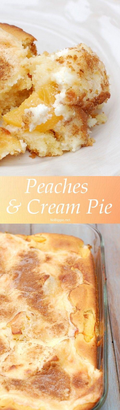 Peaches and cream pie   http://NoBiggie.net