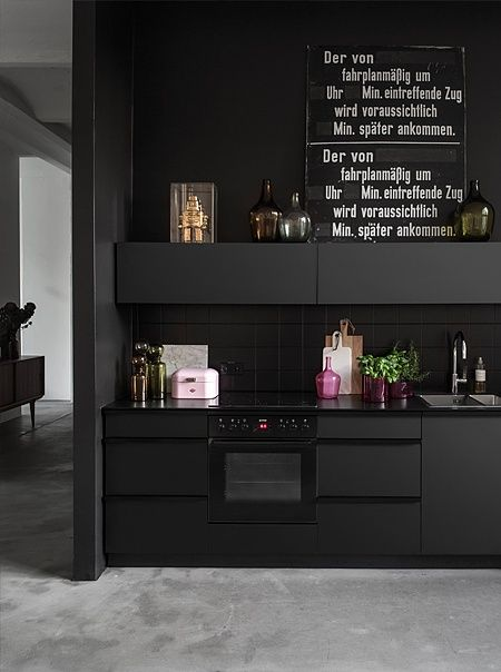 Büro küche design  Die besten 25+ Küche schwarz Ideen auf Pinterest