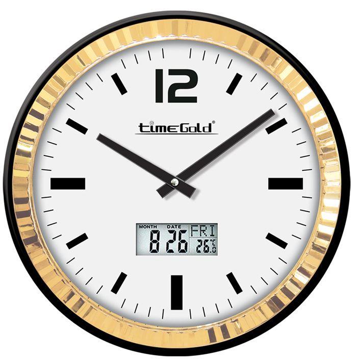 Dijital Metal Çerçeveli Zengin Duvar Saati  Ürün Bilgisi ;  Ürün maddesi : Metal gövde, gerçek cam Ebat : 42 cm  Mekanizması : Akar saniye, sessiz çalışır Dijital Metal Çerçeveli Zengin Duvar Saati Garanti : Saat motoru 5 yıl garantili Üretim  : Yerli üretim Kullanım ömrü uzundur Kalem pil ile çalışmakta Ürün fotoğrafta görüldüğü gibi olup orjinal paketindedir Sevdiklerinize hediye olarak gönderebilirsiniz