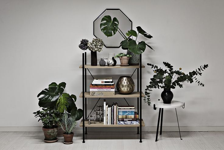Danish design brand Novel Cabinet Makers. This is a collection of their mirror series named Reflection, shelving system Stock and tables Arch.