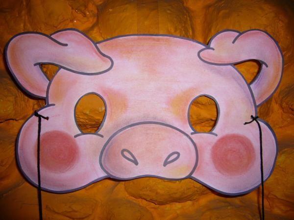 Cómo hacer una máscara de cerdito - 13 pasos - unComo