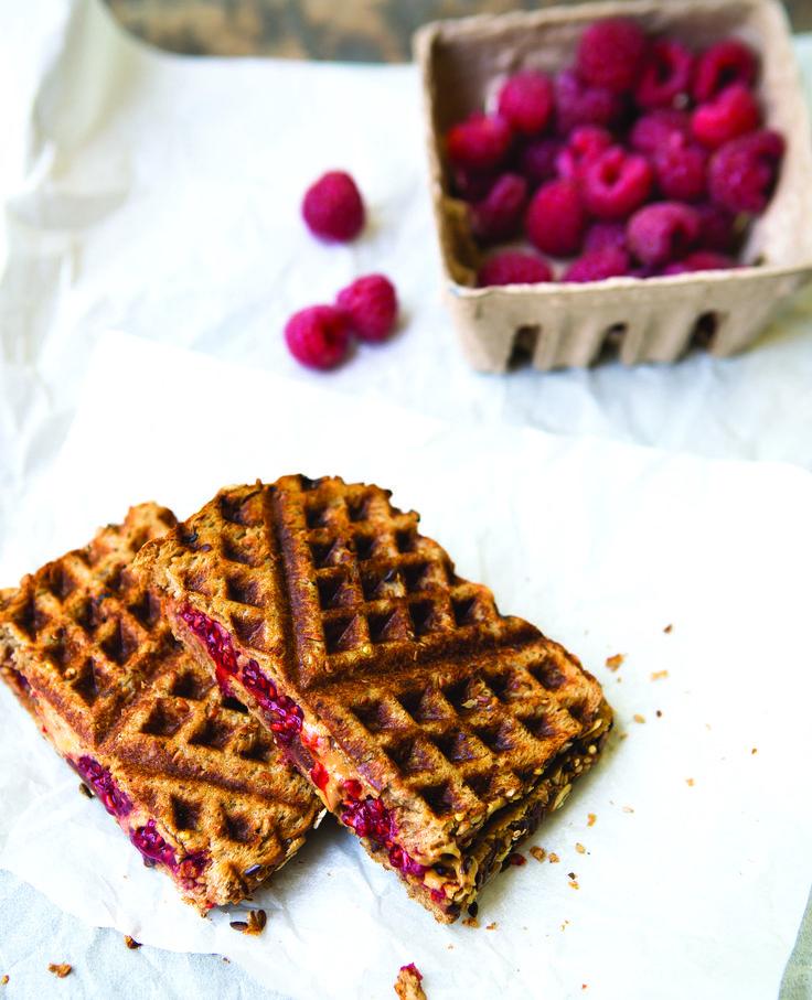 Peanut Butter Raspberry Waffle Iron Sandwich http://www.oregonlive.com/cooking/2016/08/back-to-school_mornings_get_bu.html