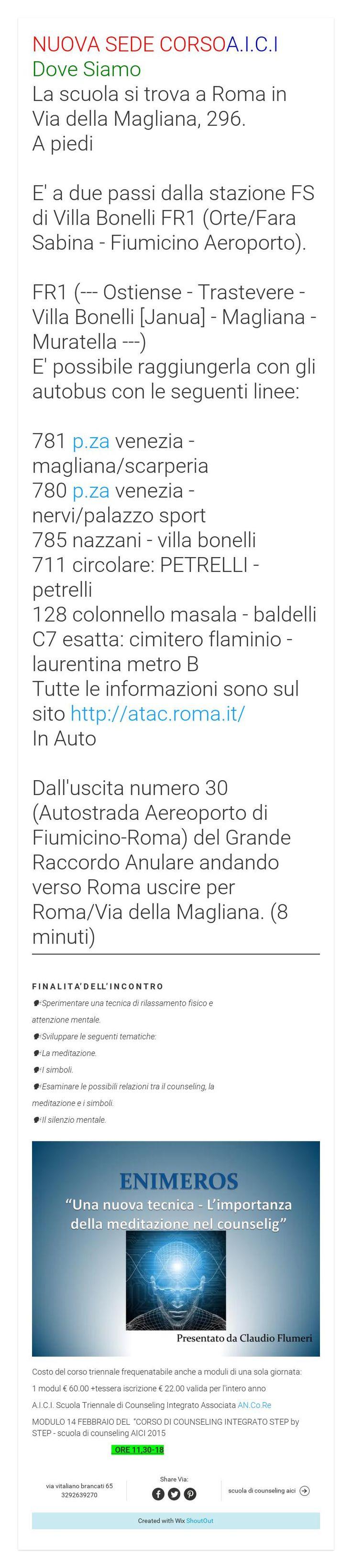 NUOVA SEDE CORSOA I C I Dove Siamo La scuola si trova a Roma in Via della Magliana 296 A piedi E a due passi dalla stazione FS di Villa Bonelli FR1