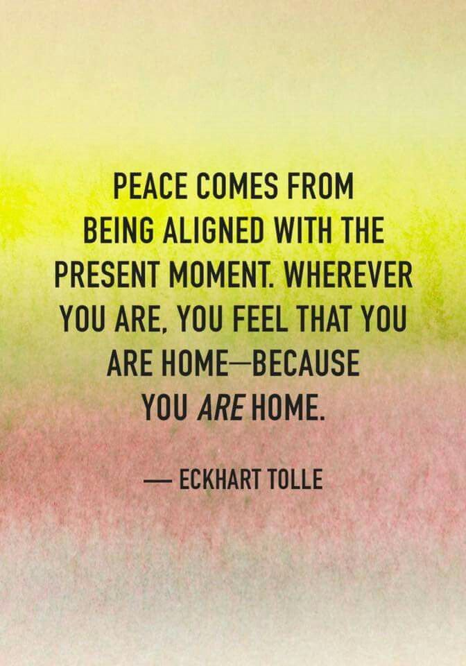 The Peace Of The Present Moment The Present Moment