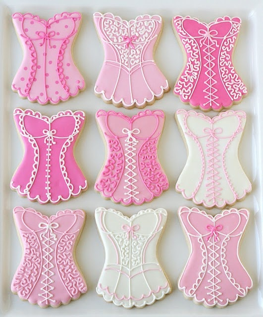 Pink corset cookies - for the bachelorette party??? Talk to Kasey Jenson