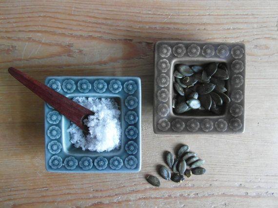 Quistgaard - AZUR and UMBRA - set of 2 - small tray - salt cellar - Kronjyden - 1960s