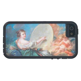 Allegory of painting Boucher Francois rococo lady Case For iPhone 5/5S #allegory #painting #boucher #Paris #France #art #woman #girl #cherubs #angels #rococo #accessory #gifts #classic #customizable #home #decoration