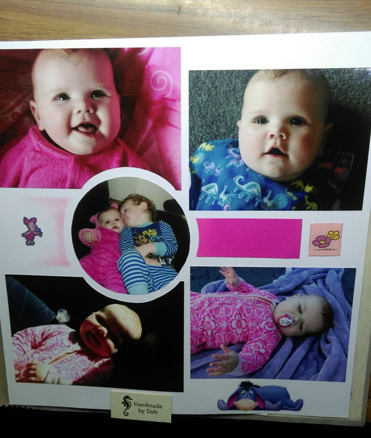gorgeous granddaughter scrapbook page pink