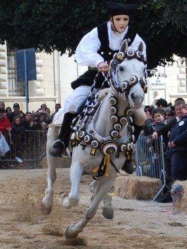 Sardinia Italy, Traditional festival  Oristano La Sartiglia