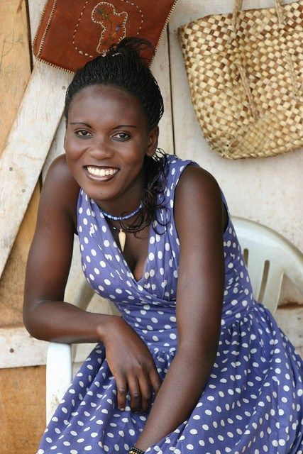 A woman from Uganda