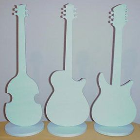 Buy Cool Guitar Centerpieces - Styrofoam guitar shape centerpieces