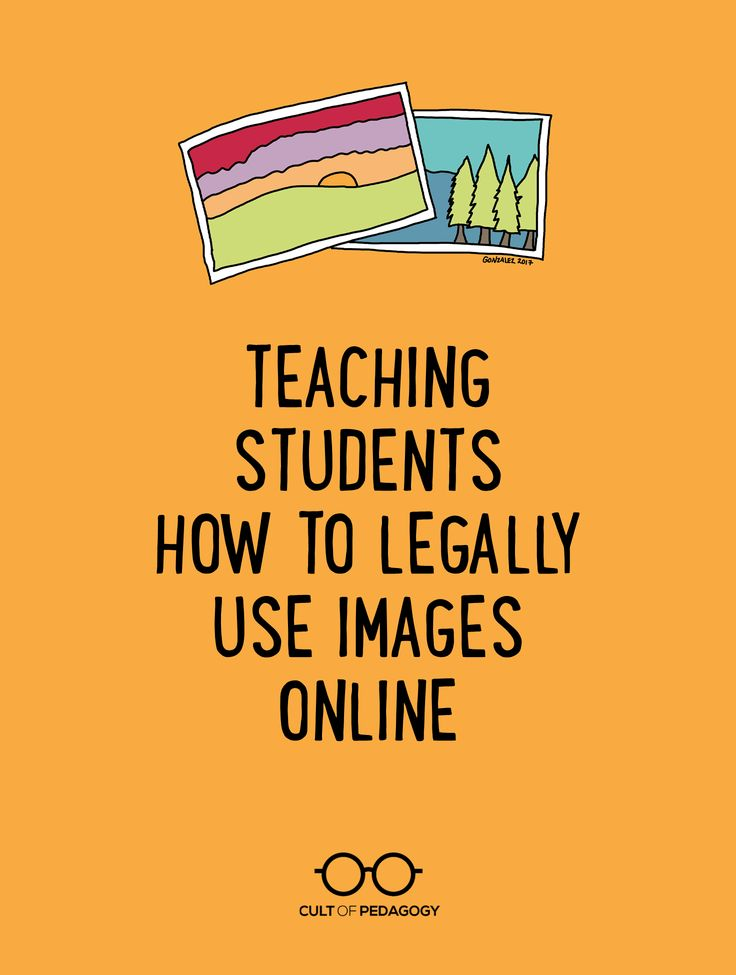 As our students use more and more images to enhance their digital products, they need to learn how to respect other people's creative ideas and privacy. | Cult of Pedagogy