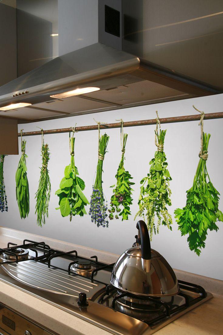 Bylinky ako motív kuchynskej zásteny | DIMEX