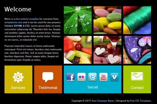 HTML шаблон сайта в стиле Windows 8, Metro