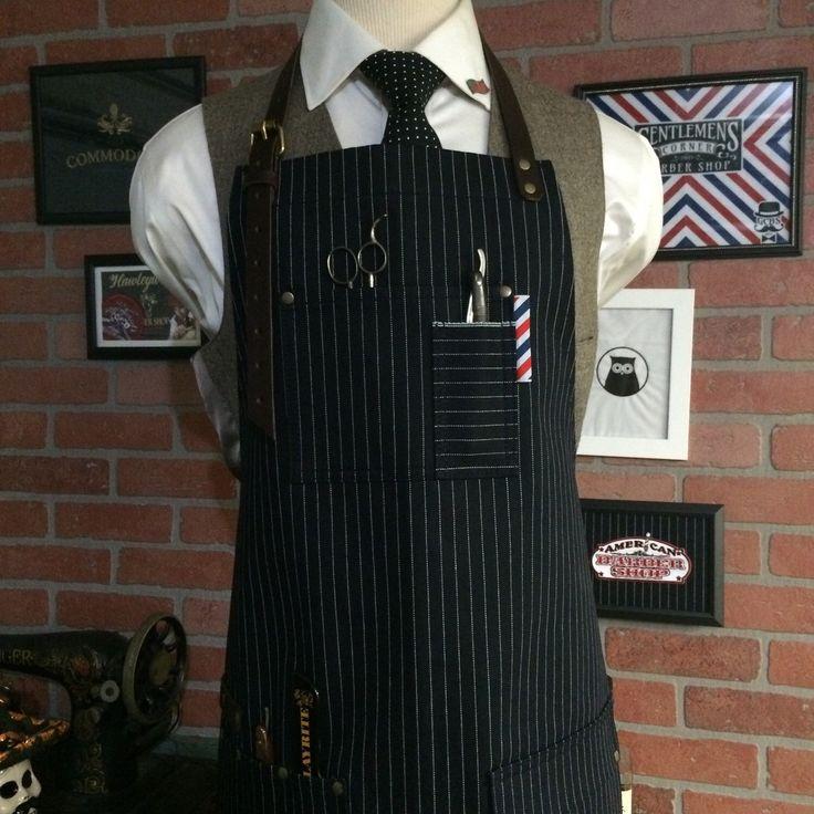 barber apron by sartorandvillain on Etsy https://www.etsy.com/listing/250219332/barber-apron