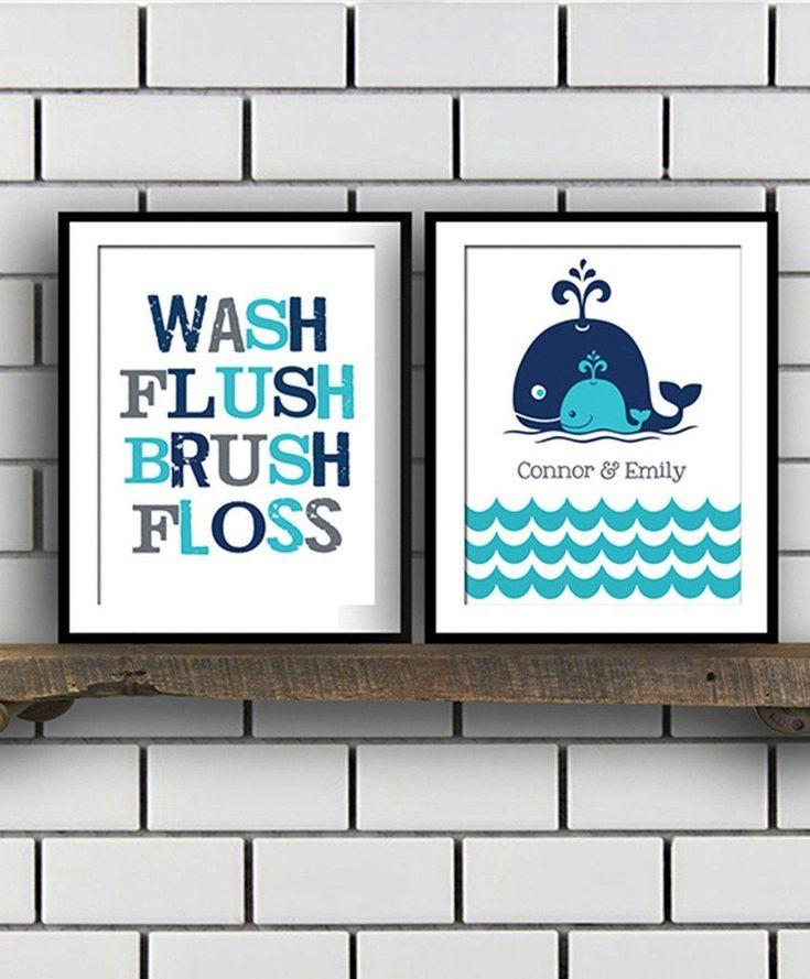 Kids Bathroom Print Set – kids bathroom