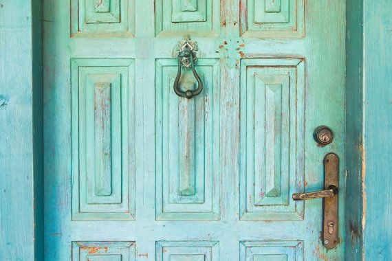 Paris photography wooden door mint green by DayLightPhotography, $12.00
