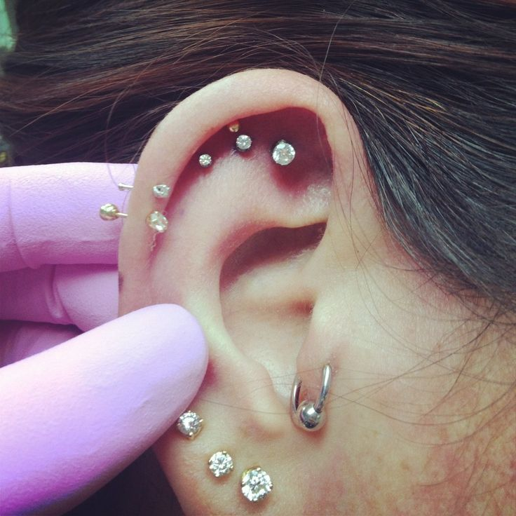 Cute Swarovski Crystal Piercing Ideas at MyBodiArt
