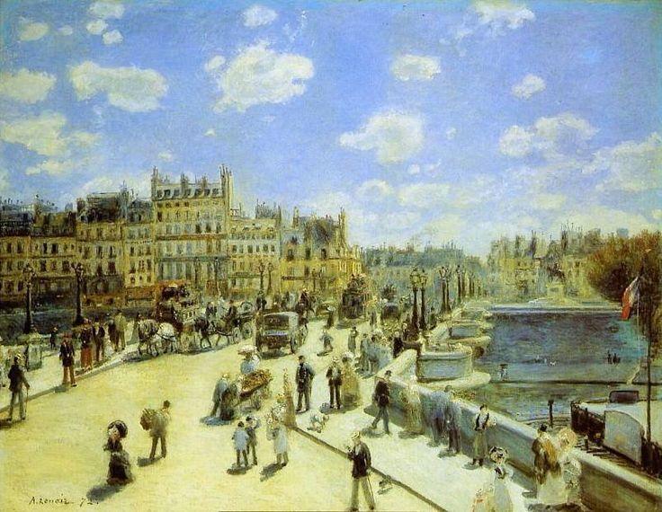 Le Pont Neuf vu par Auguste Renoir en 1872