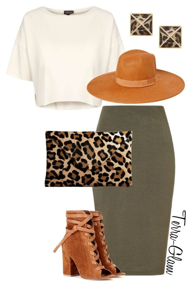 """A Little Leopard"" by terra-glam ❤ liked on Polyvore featuring Lipsy, Topshop, Gianvito Rossi and Belle Noel by Kim Kardashian"