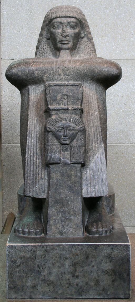 Statue of High Priest of Amun Rami Raia (19th Dynasty, British Museum)