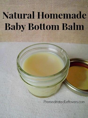Natural Homemade Baby Bottom Balm  If you know me you know I LOVE DIY homemade stuff!!