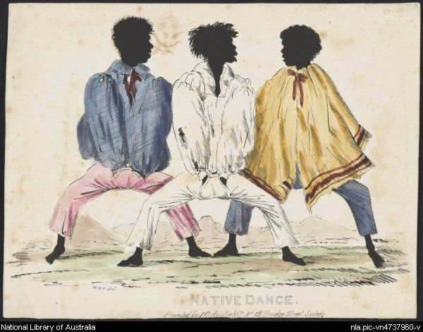 Fernyhough, W. H. (William Henry), 1809-1849. Native dance, Sydney [picture]