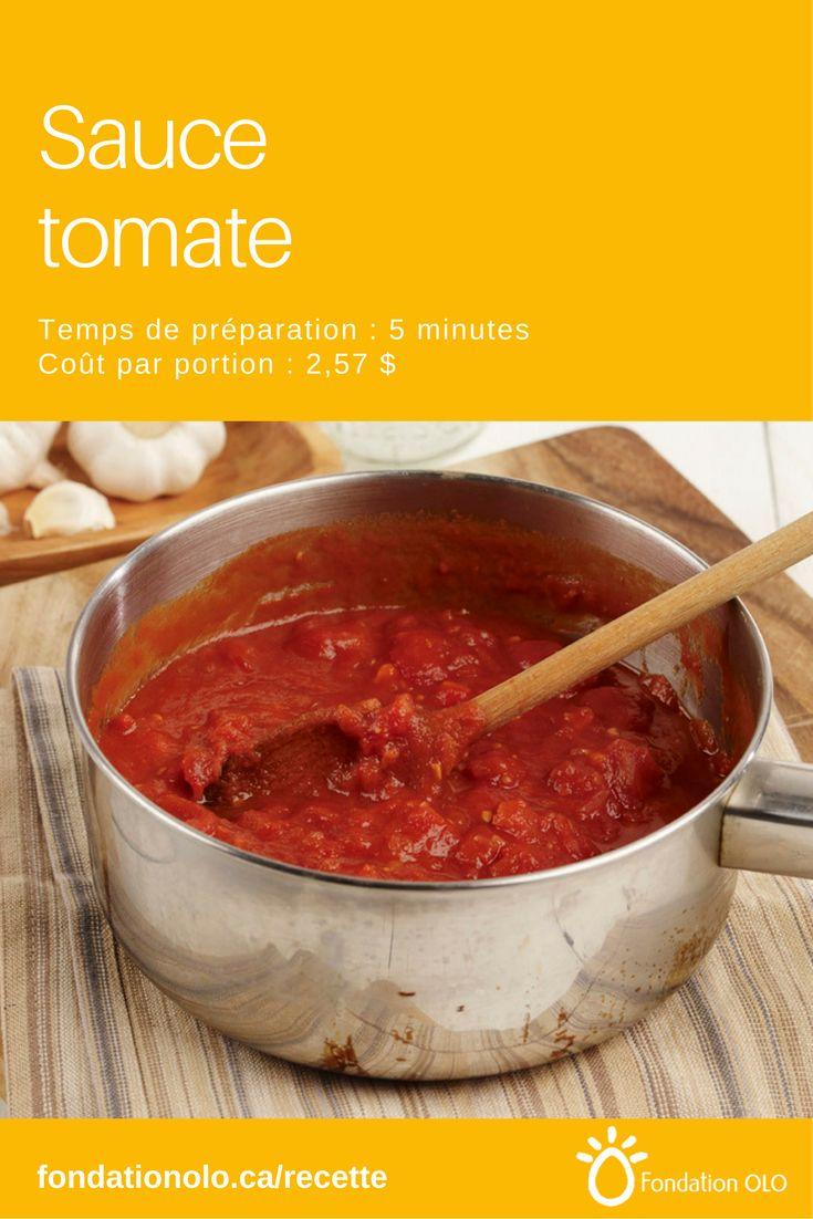 Recette de base de sauce tomate, pour accompagner les pâtes et plusieurs autres plats. Se prépare en 5 minutes seulement. --- Recette facile, Recette économique, Recette rapide, Recette nutritive --- #Tomate