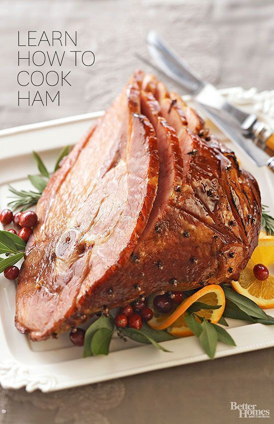 Ham is the ideal no-fuss entree, especially if you're serving a crowd. Learn how to adorn a ham with cloves in a diamond pattern, then bake, glaze, and slice.