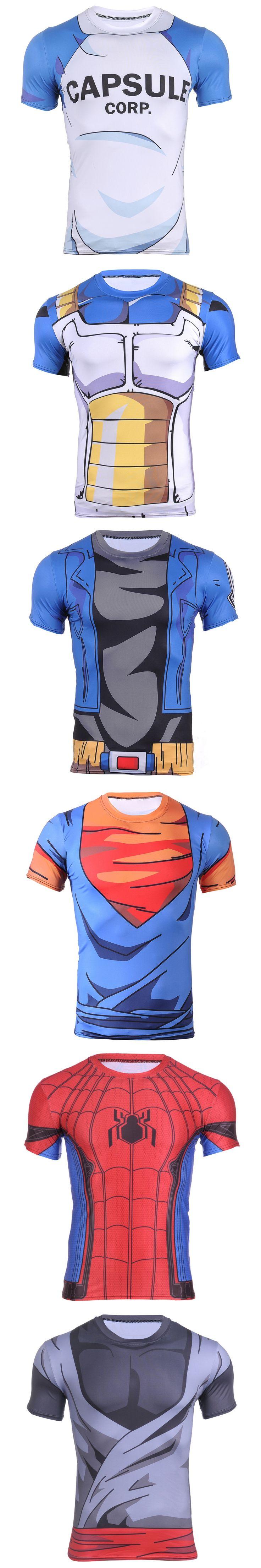 FASHION Sixteen Styles Ball Z Men 3D Dragon Ball Z Goku T-shirt Vegetarian Various Colors Jersey Plus Size Men's Muscle clothing