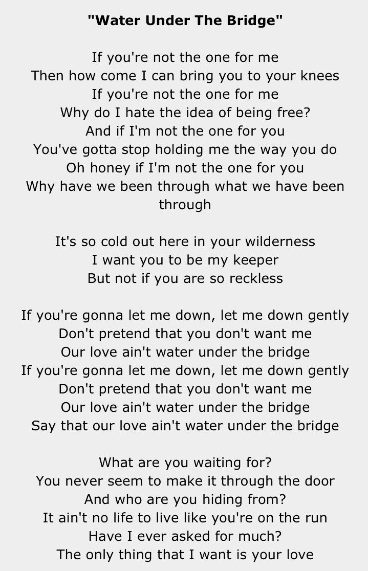 Here are the Adele Songs You Love Most water under the bridge Adele