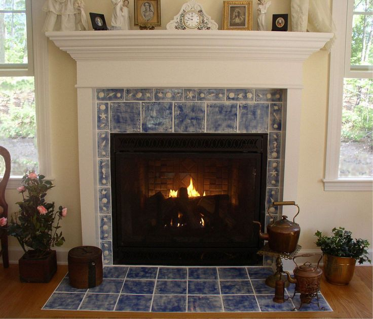 antique fireplace tile. charming fireplace design ideas to light up the interior : stunning indoor plant blue tile mantel decoration combined. antique
